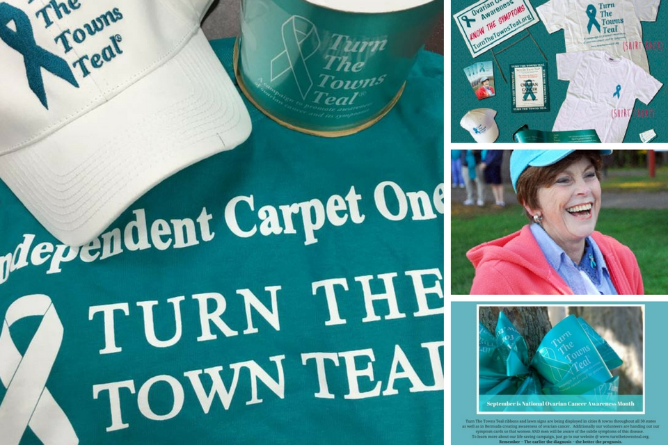 Independent Carpet One Turn the Towns Teal